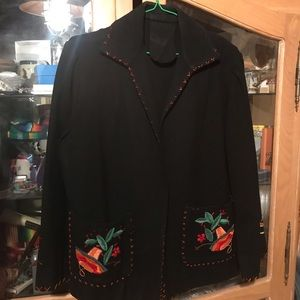 Jackets & Blazers - Hand Embroidered Mexican Style Jacket